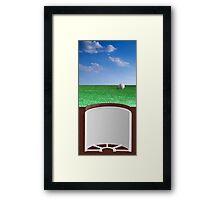 Ball on Green Framed Print