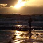 Green Beach Sunset by CallumPoke