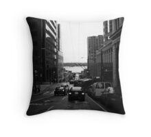 Seattle Street Throw Pillow