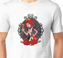 Queen of Hearts - White Background Unisex T-Shirt
