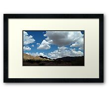 Shadows In The Valley - Mojave Framed Print