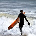 Winter Surfing at Old Orchard Beach by Jenny Webber