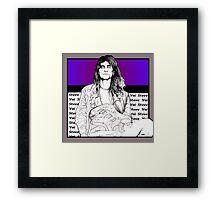 Steve Vai Sitting Framed Print
