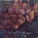 Marbleized floral forms by Ellen Keagy