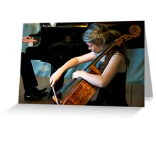 """""""Music is a higher revelation than all wisdom."""" Greeting Card"""