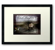 Dark Thoughts Tired Heart Framed Print