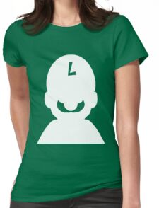 luigi white Womens Fitted T-Shirt