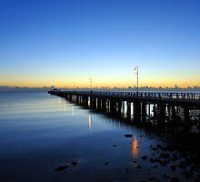 Pre-dawn at Shorncliffe Jetty. Brisbane, Queensland, Australia. by Ralph de Zilva