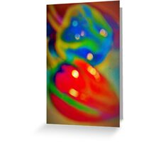 Dreamy peppers abstract Greeting Card
