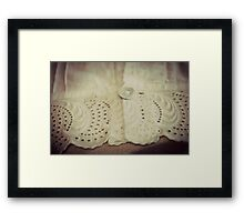 Lace - Embroidery - JUSTART © Framed Print