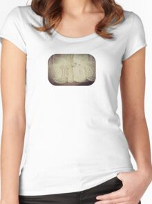 Lace - Embroidery - JUSTART © Women's Fitted Scoop T-Shirt