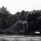 "Blue Umbrella on Lake Kunming by Christine ""Xine"" Segalas"