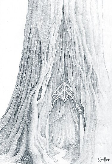 Lothlorien Mallorn Tree by Curtiss Shaffer