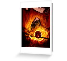 Golden Gorge, Hill End Greeting Card