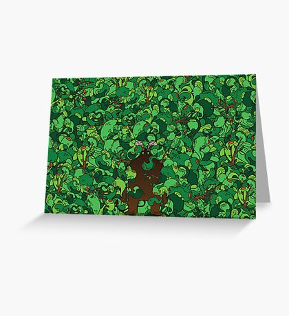 Forest Demon Greeting Card