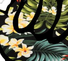 Hang Loose (Hawiian Flowers) Sticker