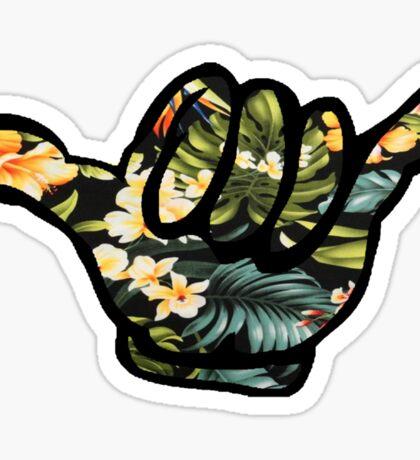 Hang Loose (Hawiian Flowers) Sticker