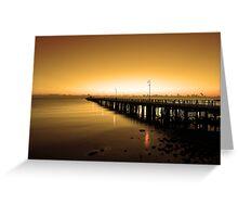 Shorncliffe Jetty at pre-dawn. Brisbane, Queensland, Australia. Greeting Card