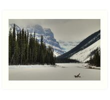 Mountains and glaciers Art Print