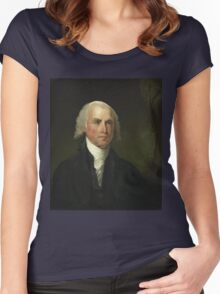 James Madison by Gilbert Stuart (1821) Women's Fitted Scoop T-Shirt