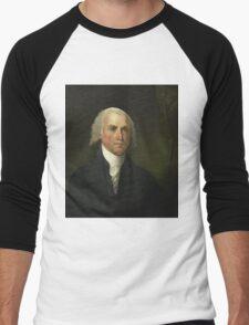 James Madison by Gilbert Stuart (1821) Men's Baseball ¾ T-Shirt