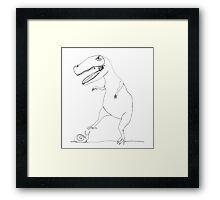 snail & T-Rex Framed Print