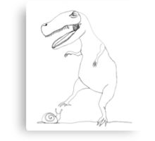 snail & T-Rex Metal Print