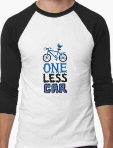 One Less Car Men's Baseball ¾ T-Shirt