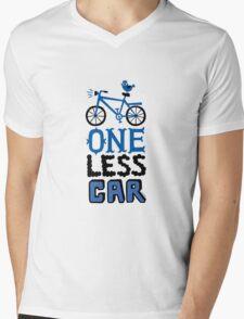 One Less Car Mens V-Neck T-Shirt