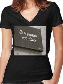 What's Old is New Women's Fitted V-Neck T-Shirt