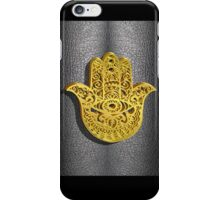 Fatima Hand 3D Vector Gold or Khamsa Hamsa arabic leather iPhone Case/Skin