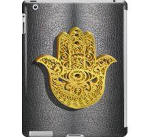 Fatima Hand 3D Vector Gold or Khamsa Hamsa arabic leather iPad Case/Skin
