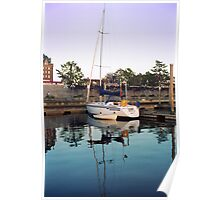 Reflections in the Harbor- Victoria, British Columbia Poster