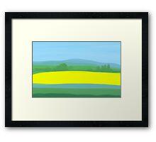 Oilseed Rape Field Framed Print