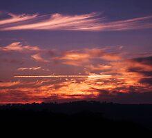 Anzac Sunrise ~ Beaufoy Merlin Lookout ~ Hill End by Lorraine Creagh