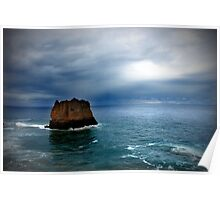 Eagal Rock Aireys Inlet Poster
