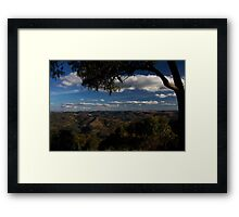 Kissing Point Lookout ~ Hill End Framed Print