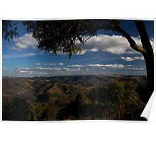 Kissing Point Lookout ~ Hill End Poster