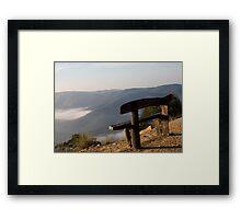 Bench on the Edge  Framed Print
