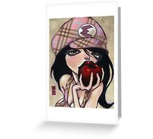 eve pink burberry Greeting Card