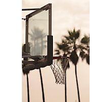 Beach 'n Basketball Photographic Print