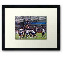 Line Out Framed Print
