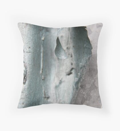 Abstract in Metallic Blue  II Throw Pillow