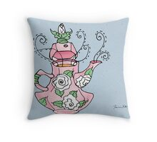 Carnation Tea Throw Pillow