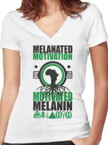 Motivated Melanin Women's Fitted V-Neck T-Shirt