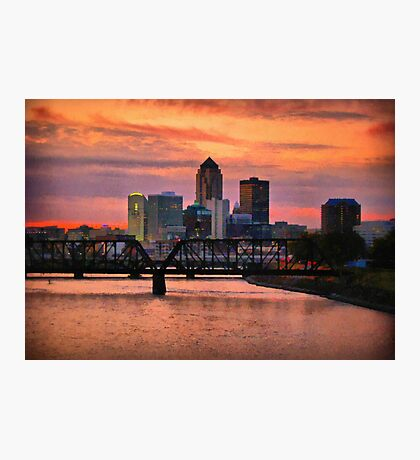 City At Dusk Photographic Print