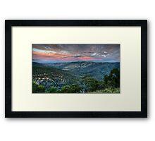 Sunset Blessed (Hill End) Framed Print