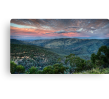 Sunset Blessed (Hill End) Canvas Print