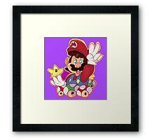 Super Mario Design Framed Print