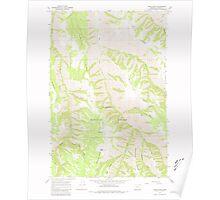 USGS Topo Map Oregon Wood Butte 282140 1967 24000 Poster